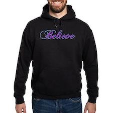 Believe Gifts in Purple & Teal Hoodie (dark)