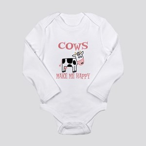 Cows Long Sleeve Infant Bodysuit