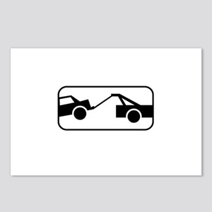 Tow Away Zone Sign 2 Postcards (Package of 8)