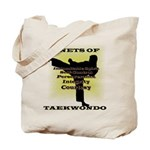 Traditional Taekwondo Tenets Gold Tote Bag