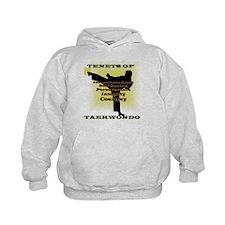 Traditional Taekwondo Tenets Gold Kids Hoodie