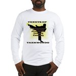 Traditional Taekwondo Tenets Gold Long Sleeve T-Sh