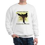 Traditional Taekwondo Tenets Gold Sweatshirt