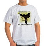 Traditional Taekwondo Tenets Gold Light T-Shirt