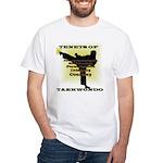 Traditional Taekwondo Tenets Gold White T-Shirt