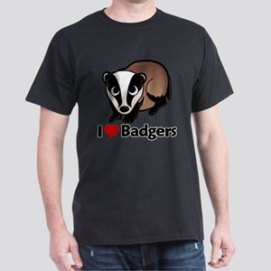 I Love Badgers Dark T-Shirt