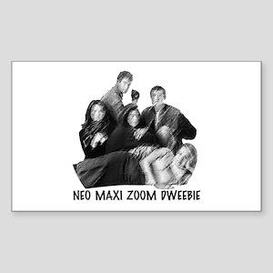 Neo Maxi Zoom Dweebie Sticker (Rectangle)