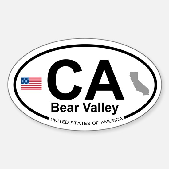 Bear Valley Sticker (Oval)