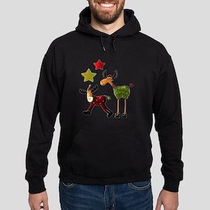 Winter Star Mooses Hoodie (dark)