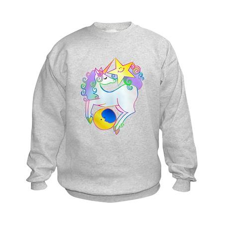 Celestial Unicorn Kids Sweatshirt