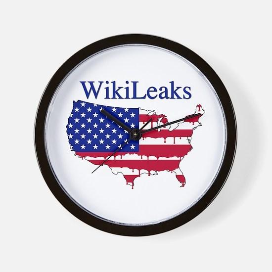 WikiLeaks America Wall Clock