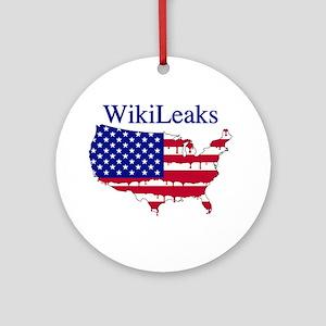WikiLeaks America Ornament (Round)