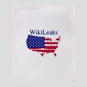 WikiLeaks America Throw Blanket