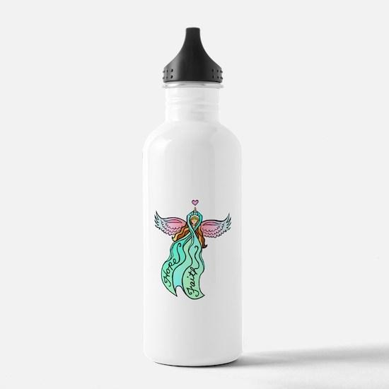 Teal Angel Sports Water Bottle