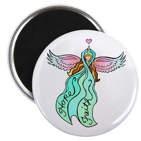 Teal Angel Magnet