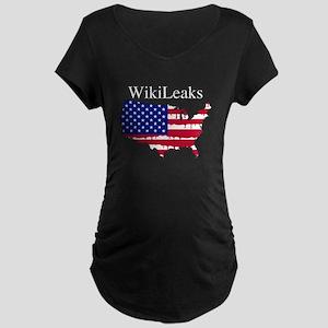 WikiLeaks America Maternity Dark T-Shirt