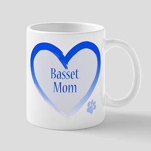 Basset Blue Heart Mug
