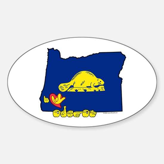 ILY Oregon Sticker (Oval)