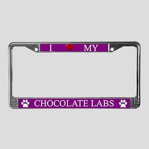 Purple I Love My Chocolate Labs Frame