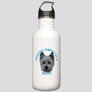 Proudly Owned Westie (1) Stainless Water Bottle 1.