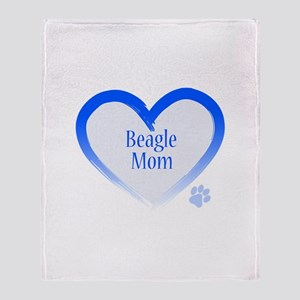 Beagle Blue Heart Throw Blanket