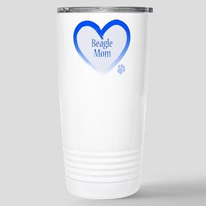 Beagle Blue Heart Stainless Steel Travel Mug