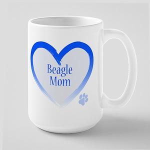 Beagle Blue Heart Large Mug