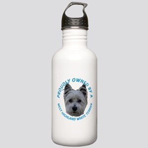 Proudly Owned Westie (2) Stainless Water Bottle 1.