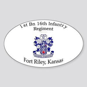 1st Bn 16th Infantry Sticker (Oval)