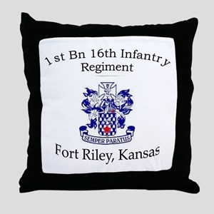 1st Bn 16th Infantry Throw Pillow