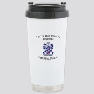 1st Bn 16th Infantry Stainless Steel Travel Mug
