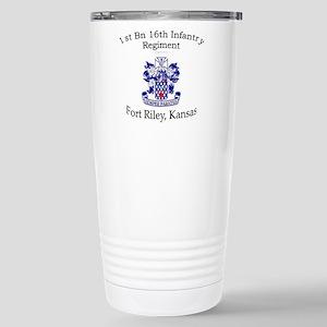 1st Bn 16th Infantry Stainless Steel Travel Mug