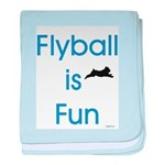 Flyball is Fun baby blanket