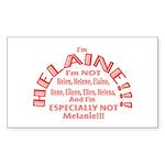 I'm Helaine 2 Sticker (rectangle 50 Pk)
