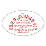 I'm Helaine 2 Sticker (oval 10 Pk)