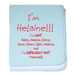 I'm Helaine baby blanket