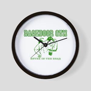 Backdoor Gym Wall Clock