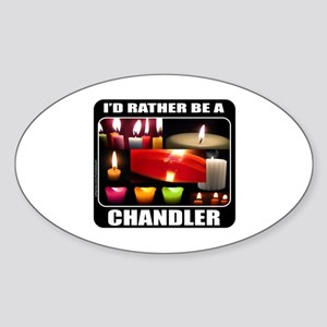 CANDLE MAKER/CANDLE MAKING Sticker (Oval)
