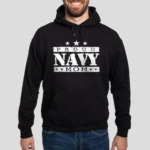 Proud Navy Mom Hoodie (dark)