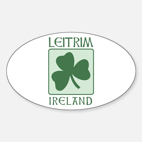 Leitrim, Ireland Oval Decal