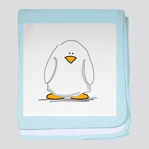 Ghost penguin baby blanket