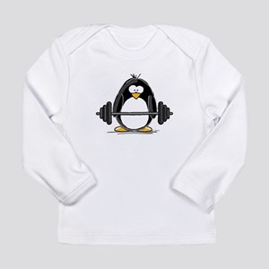 Weight lifting penguin Long Sleeve Infant T-Shirt