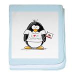 California Penguin baby blanket