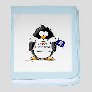 Connecticut Penguin baby blanket