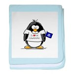 Louisiana Penguin baby blanket
