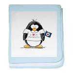 Minnesota Penguin baby blanket