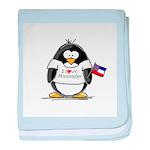 Mississippi Penguin baby blanket