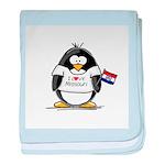 Missouri Penguin baby blanket