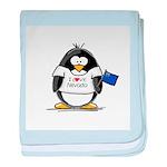 Nevada Penguin baby blanket
