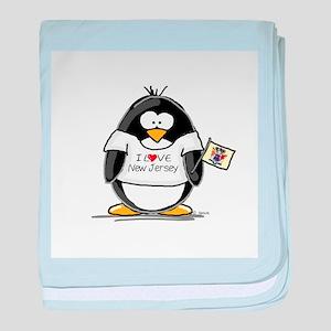 New Jersey Penguin baby blanket